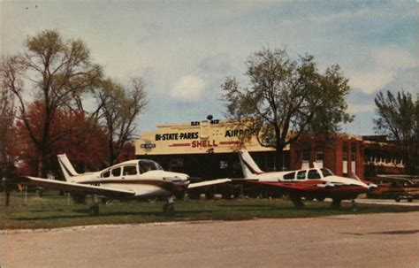 Cahokia Post Office by Bi State Parks Airport East St Louis Cahokia Il Postcard
