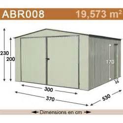 abri de jardin m 233 tal 19 57 m2 kit d ancrage inclus