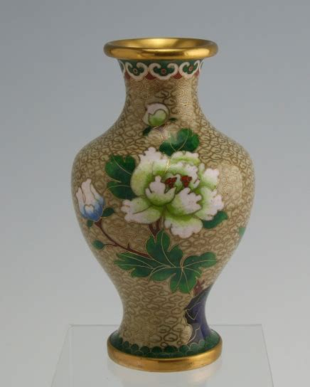 Antiques From China Auction by Vintage Cloisonne Vase Brass For Sale Antiques