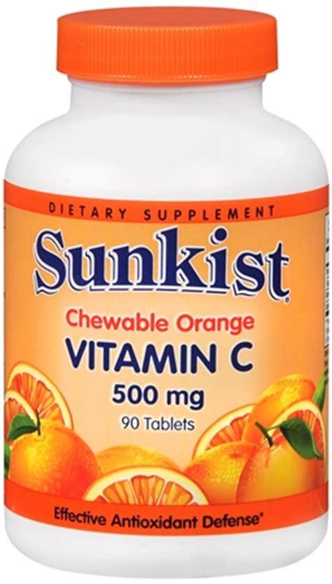 Appeton Vitamin C 500mg sunkist vitamin c 500 mg tablets chewable 90 tablets pharmapacks