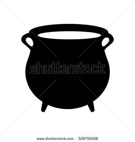 Pot Clay Gold Cactoon black pot silver money coins stock vector 257681353