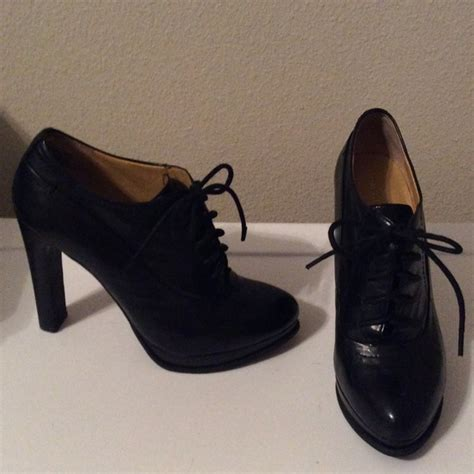 oxford high heel shoes 60 nine west shoes nine west black oxford lace up