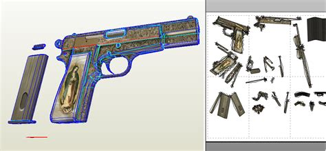 Pistol Papercraft - papercraft coming soon 9mm pistol from