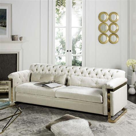 white velvet sofa knt7000c safavieh