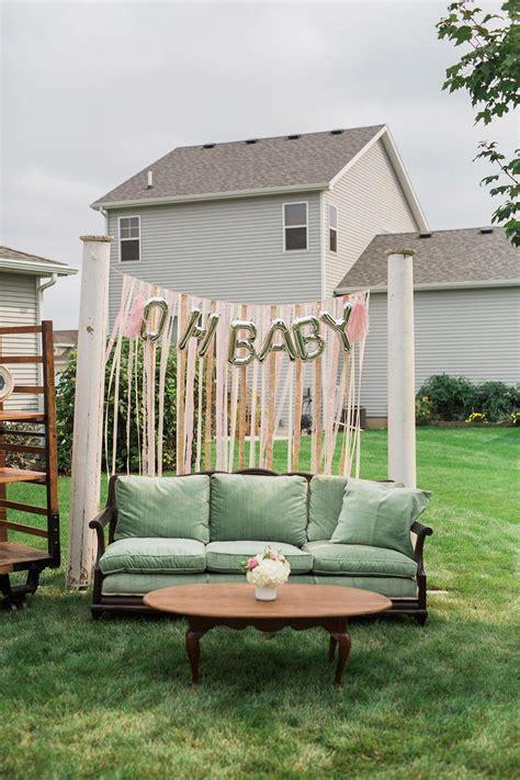 backyard baby shower ideas a pretty backyard baby q baby shower the umbrella