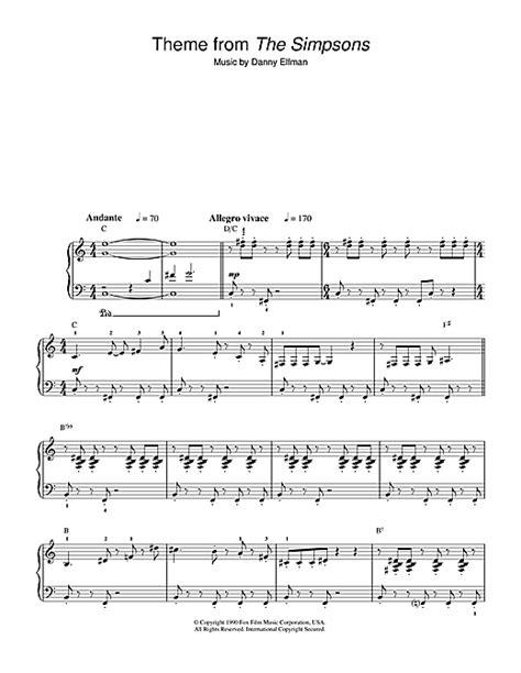 theme music kingsman theme from the simpsons partition par danny elfman piano