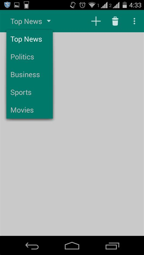 toolbar for android android how to add spinner to toolbar subtitle stack overflow