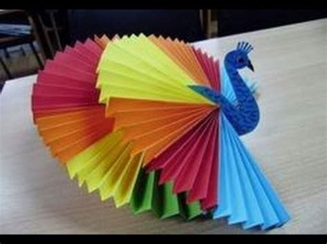 And Craft Paper Work - how to make 3d origami peacock activities for craft