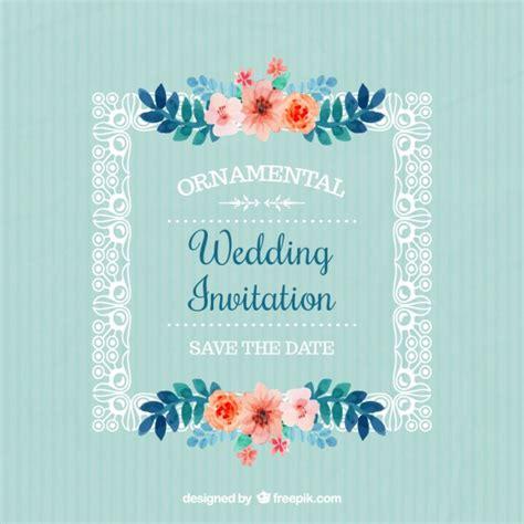 fiori di con telaio telaio con invito fiori di nozze scaricare vettori gratis