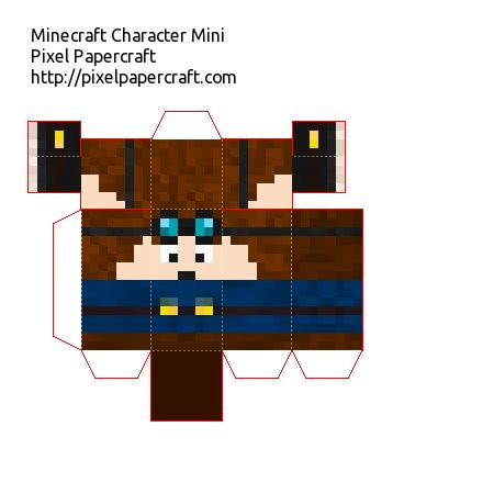 Minecraft Folding Paper - papercraft dantdm mini