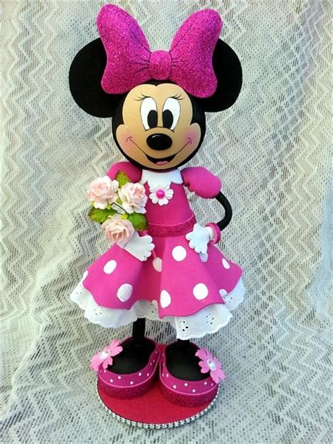 Boneka Micky Minnie Mouse scrapwluv creations minnie mouse fofucha doll foamitermo mice manualidades and cas