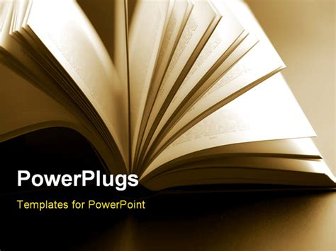 powerpoint templates books up of abstract open book pages powerpoint