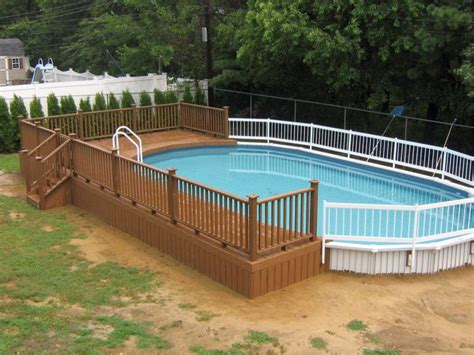 Decks Around Above Ground Pools Pictures by 18 Contemporary Swimming Pool Wooden Deck Designs
