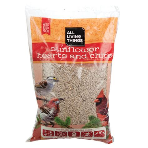 all living things sunflower hearts and chips wild bird food