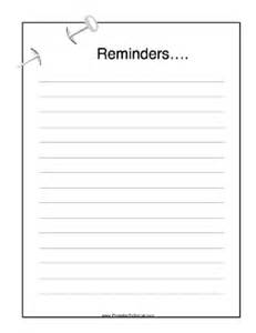 reminders to do list