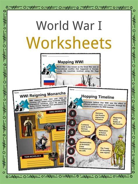 Causes Of World War 1 Worksheet Answer Key