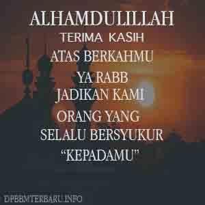 dp bbm bersyukur islami