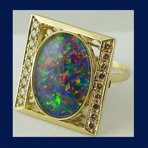 Black Opal Jarong Big Size 20 jol designer black opal triplet ring size 6 75 in 14k yg with from 4sot on ruby