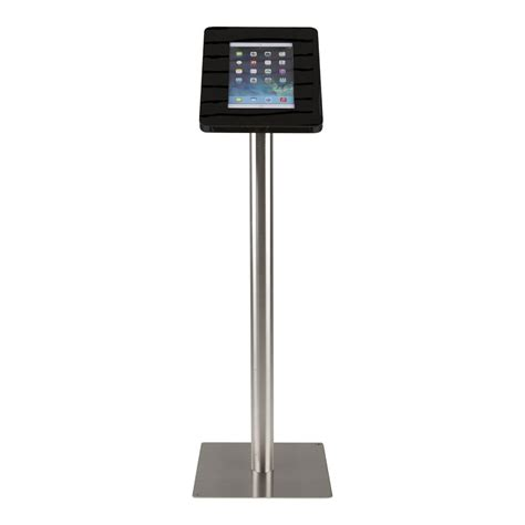 tablet floor stand tablet floor stand meglio black cassette 9 11 inch with stainless steel base exhibishop