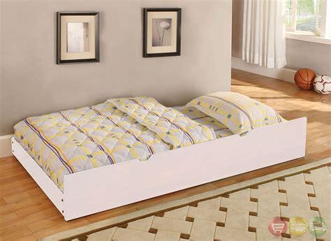 caren cottage white platform bedroom set with slat kit