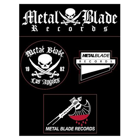 Metal Records Metal Blade Records Quot Logos Sticker Sheet Quot Stickers Decals Metal Blade Records
