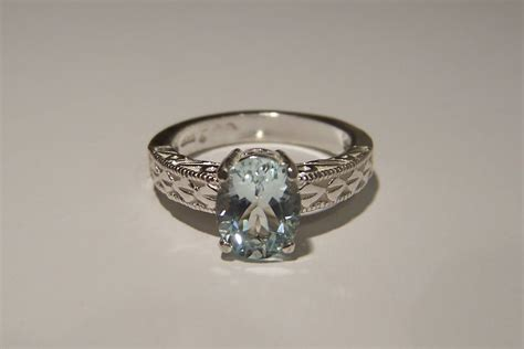 antique rings antique rings aquamarine