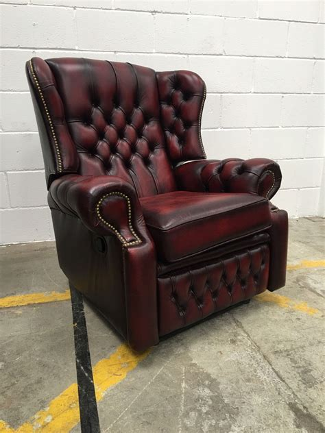 chesterfield sofa saxon oxblood leather monk high back saxon chesterfield recliner