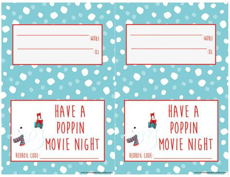 printable christmas cards reddit diy movie night redbox gift basket teacher gift idea