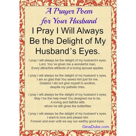 a prayer poem in honor of your husband powerful prayer