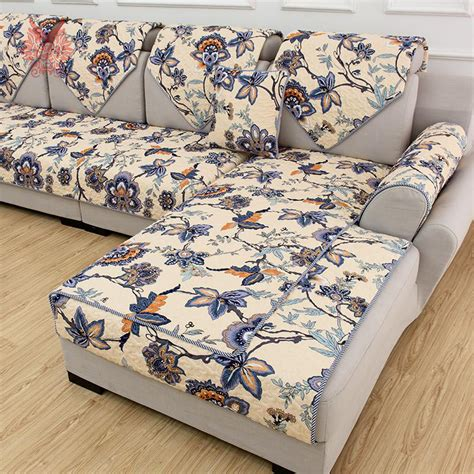 print slipcovers american style multi color floral print quilting sofa