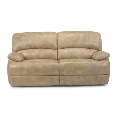 flexsteel dylan reclining sofa flexsteel 1127 620 dylan leather two cushion chaise