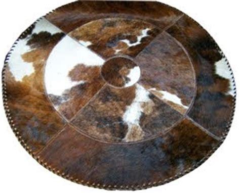 Circular Cowhide Rug H M Valley Ranch Store Western Decor