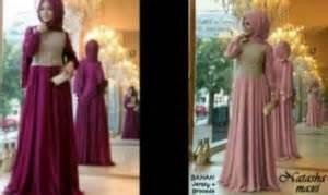 Maxi Brukat Pashmina maxi dress pesta pashmina baju muslim brokat gamis