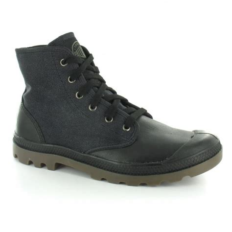 mens canvas ankle boots palladium pa hi ii mens canvas and leather 6 eyelet