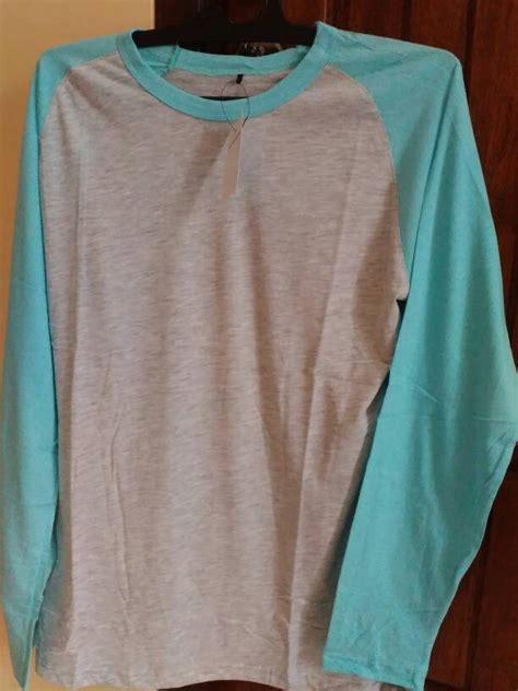 Kaos Polos O Neck Putih jual sale kaos polos lengan panjang o neck putih tosca