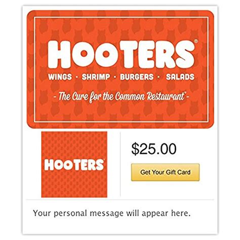 Hooters E Gift Card - compare price to hooters restaurant tragerlaw biz