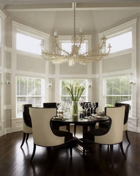 Dining Rooms With Chandeliers Coral Chandelier Transitional Dining Room Carlos Miranda Design