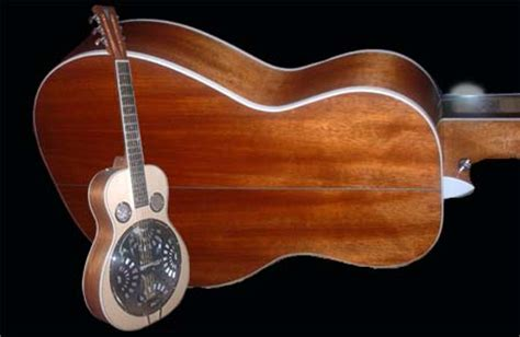 Handmade Resonator Guitars - handmade dobro style resonator guitar by guitar maker alan