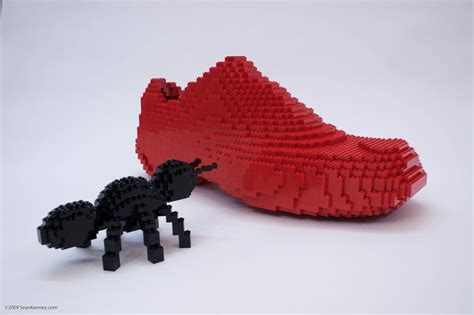 the ant and the shoe a lego 174 creation by kenney