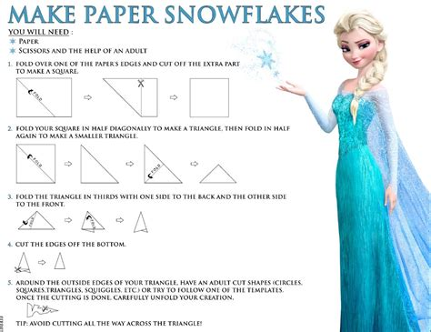 frozen make paper snowflakes elsa and photo