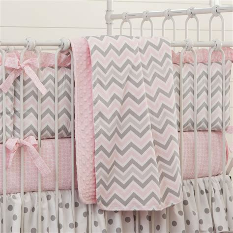 Pink And Gray Chevron Crib Bedding Carousel Designs Crib Bedding Pink And Grey