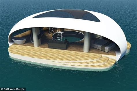 3d illustration his car floating forget the megayacht buy a floating villa with