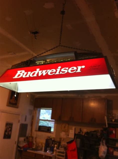 budweiser light for sale budweiser pool table light clydesdale