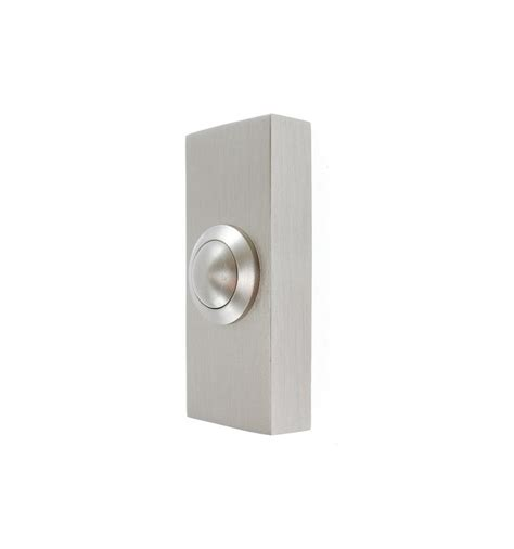 Wireless Gsm Doorbell For The Truly Lazy by Brushed Silver Finished Push Button
