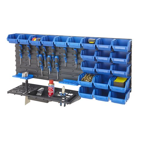 Garage Shelving Diy Kit Tool Rack Kit Louvre Panel Bin Kit Garage Shelving