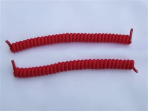 by hby stylish durable elastics perfect for all hair types styles red elastic stretch curly shoelaces spring laces
