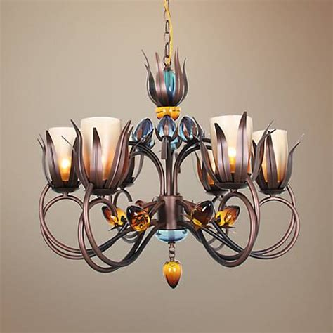 Dancer In Chandelier Of D 30 Quot Wide Copper And Black Chandelier 2c080 Ls Plus