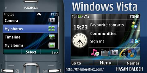 nokia 5130 themes windows vista windows vista theme for nokia c3 x2 01 themereflex