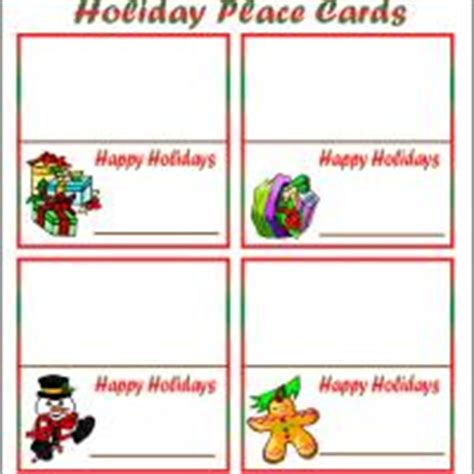 printable christmas dinner place cards holiday place cards