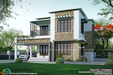 different house plans two different elevation with same house plan kerala home
